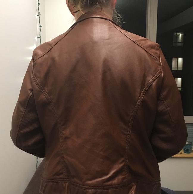 Ci Sono By Cavalini Brown Leather Jacket