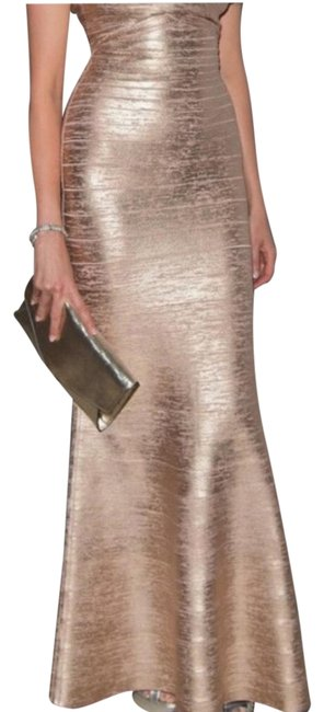 Preload https://img-static.tradesy.com/item/24297735/herve-leger-gold-gown-long-casual-maxi-dress-size-0-xs-0-3-650-650.jpg
