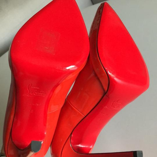 Christian Louboutin Patent Blood Red Pumps