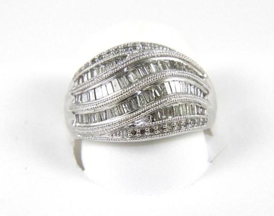 Preload https://img-static.tradesy.com/item/24297764/white-and-silver-fancy-baguette-cut-diamond-lady-s-curve-cluster-band-14k-wg-90ct-ring-0-0-540-540.jpg