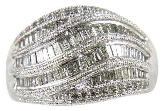 Preload https://img-static.tradesy.com/item/24297764/white-and-silver-fancy-baguette-cut-diamond-lady-s-curve-cluster-band-14k-wg-90ct-ring-0-1-540-540.jpg