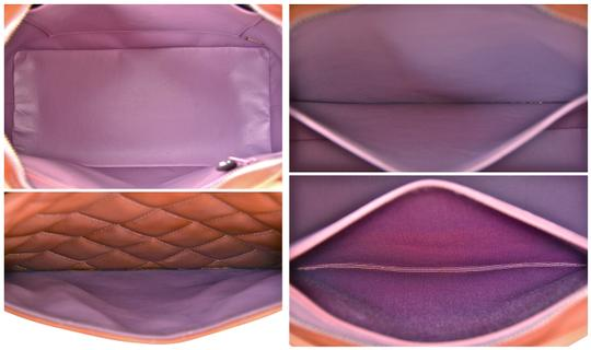 Chanel Quilted Patent Leather Handbag Reissue Satchel in Lilac Purple Rose Gold