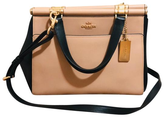Preload https://img-static.tradesy.com/item/24297815/coach-in-colorblock-beechwood-multilight-goldblack-refined-calf-leather-satchel-0-3-540-540.jpg