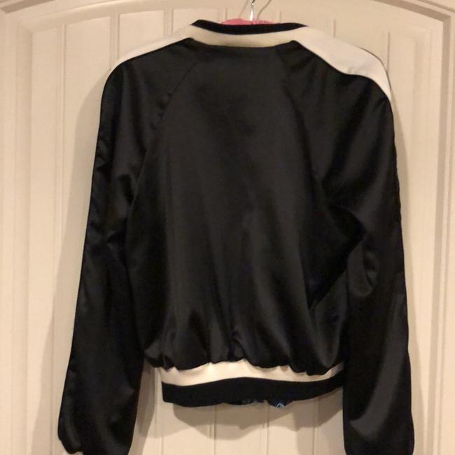 Bebe Satin Bomber Jacket. Reversible. Pockets On Born Sides. I Have Never Um Tacked The Pockets So That's Up To Your Style Motorcycle Jacket