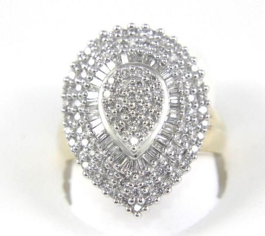 Preload https://img-static.tradesy.com/item/24297825/white-and-gold-round-baguette-diamond-pear-cluster-lady-s-10k-yg-122ct-ring-0-0-540-540.jpg