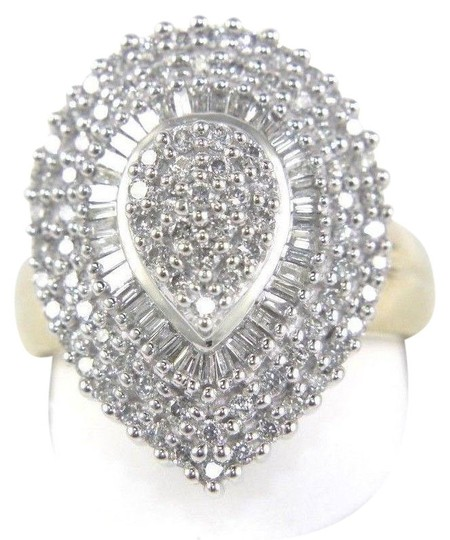Preload https://img-static.tradesy.com/item/24297825/white-and-gold-round-baguette-diamond-pear-cluster-lady-s-10k-yg-122ct-ring-0-1-540-540.jpg