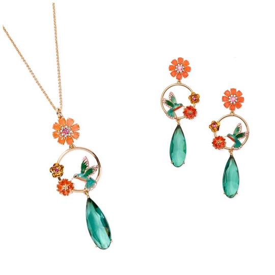 Preload https://img-static.tradesy.com/item/24297826/kate-spade-scenic-route-hummingbird-necklace-and-earrings-set-0-0-540-540.jpg