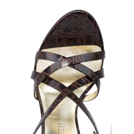 Dsquared2 Made In Italy Dsq2 Dress Evening Brown Sandals