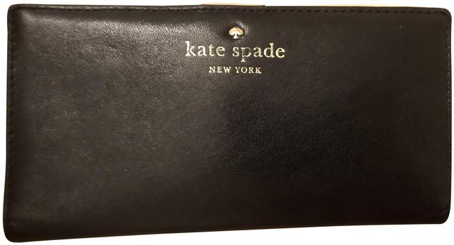 Kate Spade Black Leather Stacey Wallet Kate Spade Black Leather Stacey Wallet Image 1