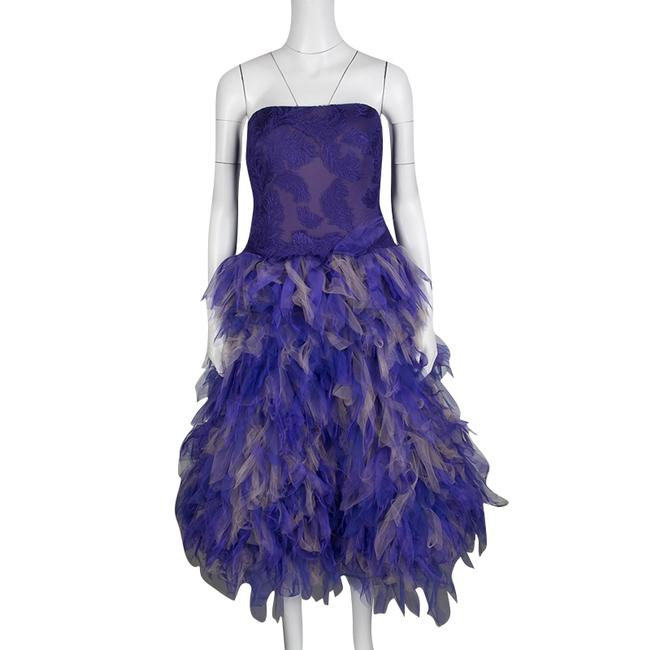 Preload https://img-static.tradesy.com/item/24297885/tadashi-shoji-purple-and-begie-tulle-embroidered-faux-feather-strapless-cocktail-dress-size-12-l-0-2-650-650.jpg