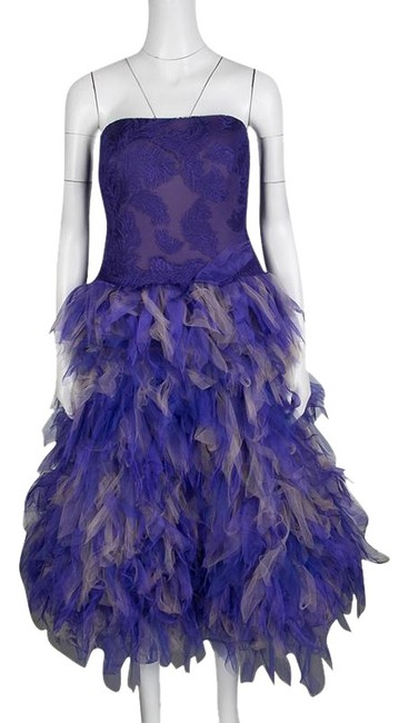 Preload https://img-static.tradesy.com/item/24297885/tadashi-shoji-purple-and-begie-tulle-embroidered-faux-feather-strapless-cocktail-dress-size-12-l-0-3-650-650.jpg