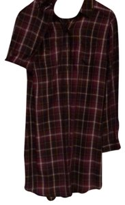 Banana Republic Mid Length Plaid Cotton short dress on Tradesy