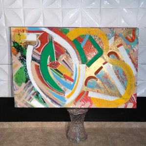 Abstract Art Abstract Art - Palm Springs African Inspired Acrylic Painting