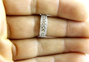 Other Fancy Color Brown Diamond Cluster Ring Band 14k White Gold .50Ct