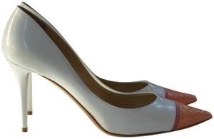 Jimmy Choo Italian Patent Leather White Pumps