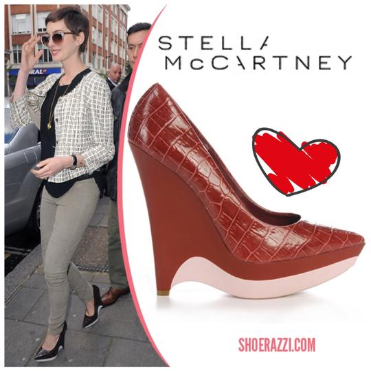 Preload https://img-static.tradesy.com/item/24297940/stella-mccartney-brown-embossed-platform-pumps-size-eu-375-approx-us-75-regular-m-b-0-0-540-540.jpg