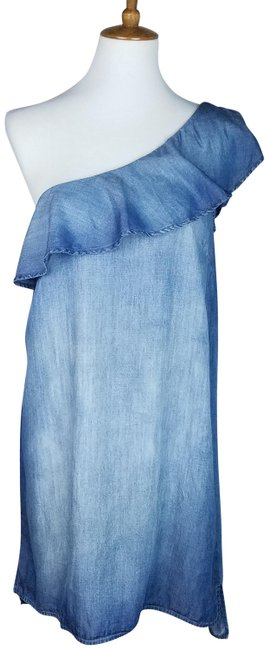 Preload https://img-static.tradesy.com/item/24297951/cloth-and-stone-blue-one-shoulder-short-casual-dress-size-4-s-0-3-650-650.jpg