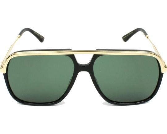 Gucci NEW Gucci GG0200S 0200S Black Gold Square Aviator Sunglasses Unisex