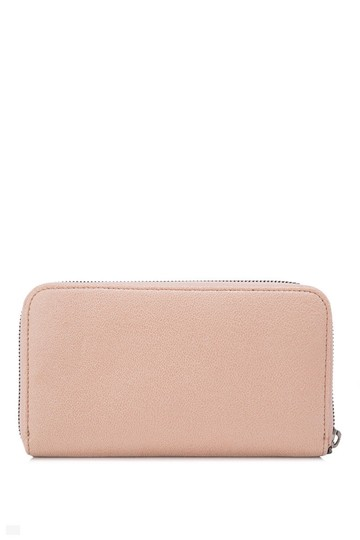 Stella McCartney Stella McCartney Shaggy Deer Long Zip Around Wallet Beige Faux Leather