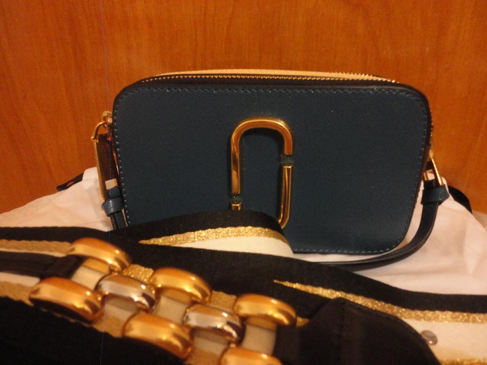 8cfd35052951 Marc Jacobs Snapshot Chain Link Colorblock Saffiano Camera Blue ...