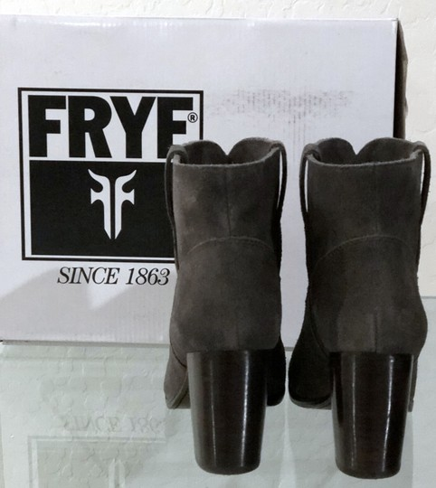 Frye Pull On Suede Charcoal Gray Boots