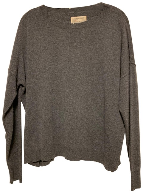 Preload https://item4.tradesy.com/images/currentelliott-cashmere-blend-raw-edge-gray-sweater-24298068-0-3.jpg?width=400&height=650