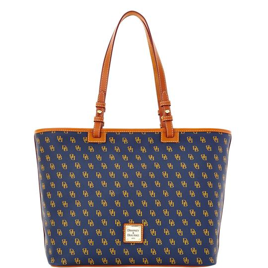 Preload https://img-static.tradesy.com/item/24298079/dooney-and-bourke-gretta-leisure-lg-navy-coated-canvas-tote-0-0-540-540.jpg
