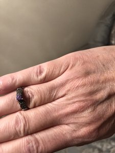 Marqisite Amythist Ring with Marqisite