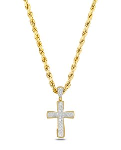 JMD LUX Gold 10k 1/4CT Diamond Cross Pendant 10k 24