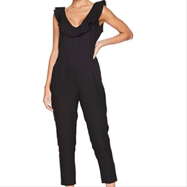Preload https://img-static.tradesy.com/item/24298108/cupcakes-and-cashmere-black-lima-v-neck-with-ruffle-romperjumpsuit-0-2-650-650.jpg