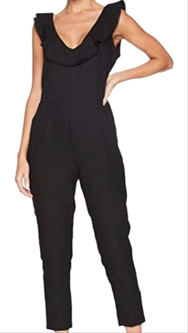Preload https://img-static.tradesy.com/item/24298108/cupcakes-and-cashmere-black-lima-v-neck-with-ruffle-romperjumpsuit-0-4-650-650.jpg