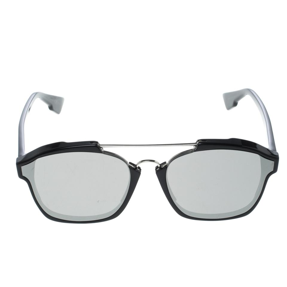977f4dbbdcbb0 Dior Silver Silver Black 8070t Abstract Wayfarer Sunglasses - Tradesy