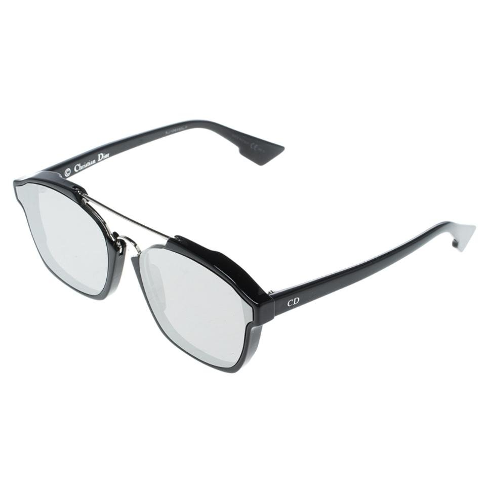 e99f44ad6e69f Dior Silver Black 8070T Dior Abstract Wayfarer Sunglasses Image 6. 1234567