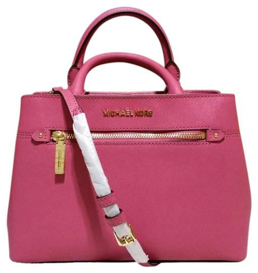 Preload https://img-static.tradesy.com/item/24298177/michael-kors-hailee-carrall-35s8gx2s1l-tulip-pink-saffiano-leather-satchel-0-0-540-540.jpg