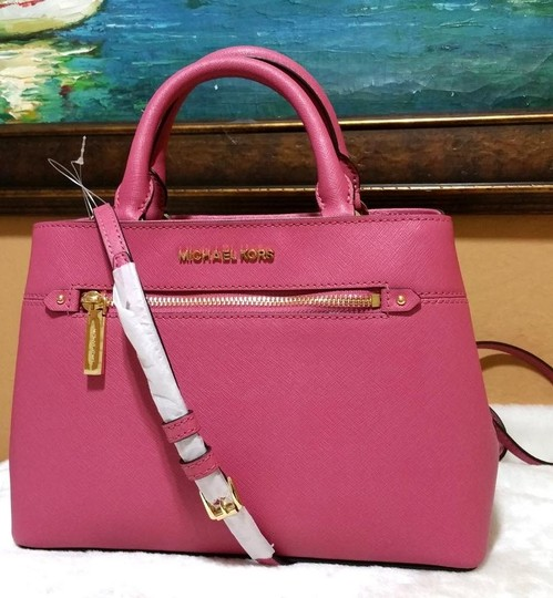 Michael Kors Satchel in tulip pink