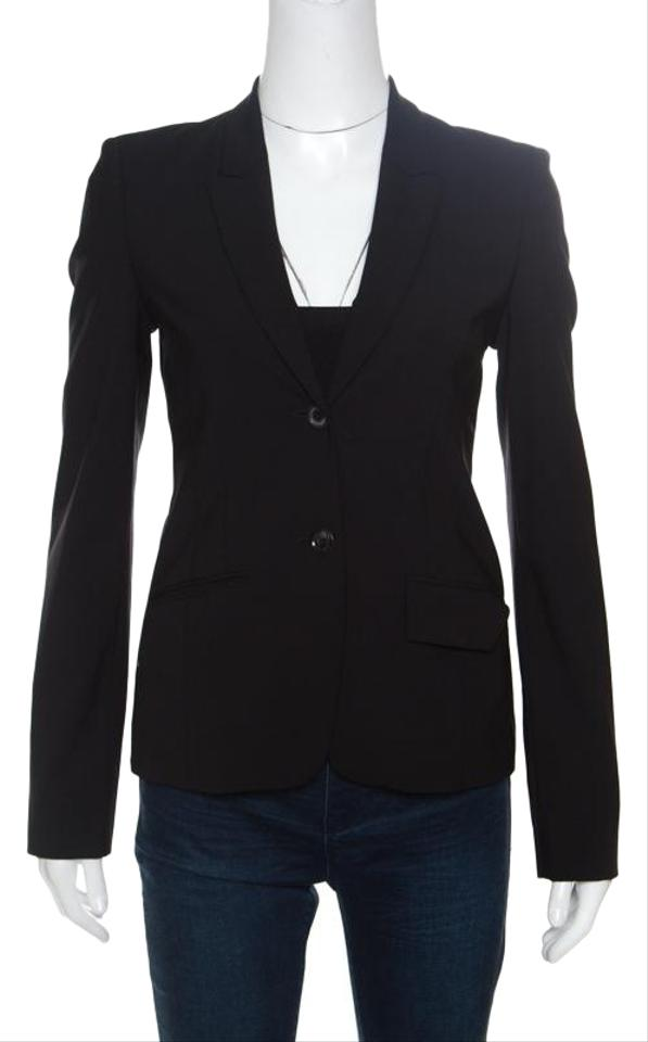 4ea49492a Boss by Hugo Boss Black Wool Jadena Tailored Blazer Size 0 (XS ...