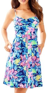 Lilly Pulitzer short dress Blue Fit And Flare on Tradesy