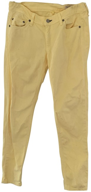 Item - Yellow Light Wash Skinny Jeans Size 28 (4, S)