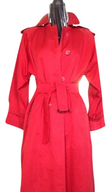 Item - Red Single Breast Coat Size 6 (S)