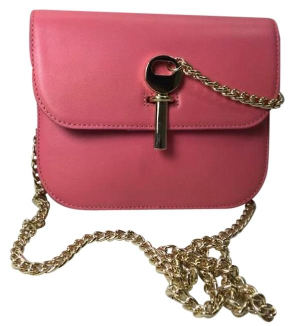 Item - Amelia Mini Premium Leather Pink Shoulder Bag
