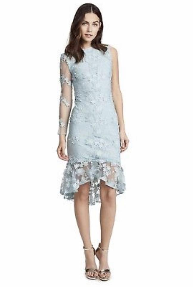 2be529a3d Cynthia Rowley Sky Blue 2018 Skydive Mid-length Cocktail Dress Size ...