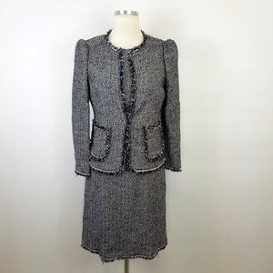 Rebecca Taylor Rebecca Taylor Navy White Tweed Dress Suit