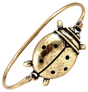 Other antiqued gold ladybug bangle