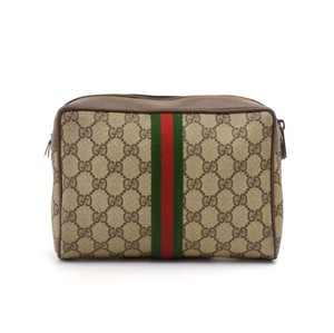 4eb55791cad Gucci Beige Vintage Collection Gg Supreme Canvas Pouch Cosmetic Bag ...