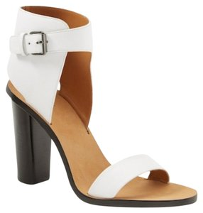 Vince Optic White and tan Sandals