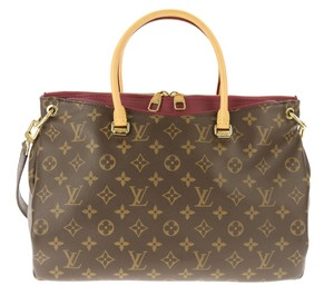 Louis Vuitton Pallas Canvas Monogram Satchel in Brown