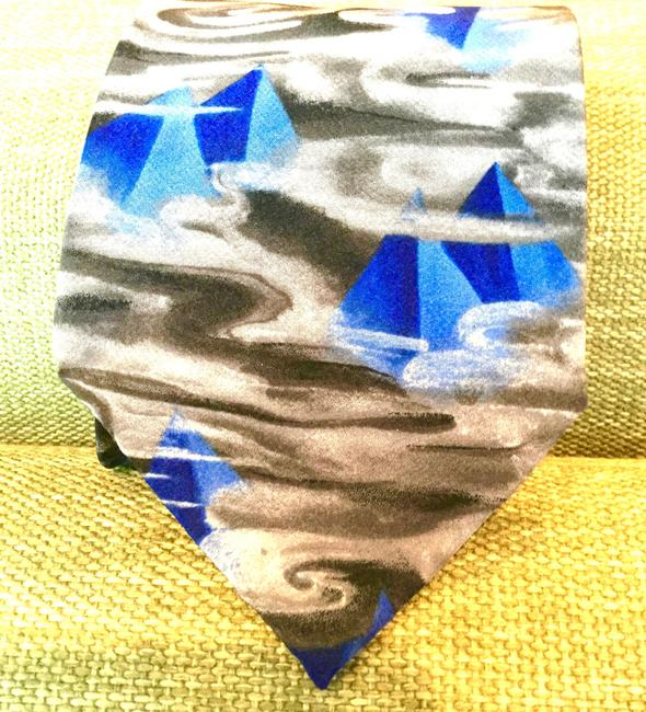 Item - Blue White Brown Yellow Gray Black - Great Pyramid - Collectible - First Set 1978 Tie/Bowtie