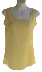 Liva Girl W/ Tag Chiffon Summer Blouse Yellow Halter Top