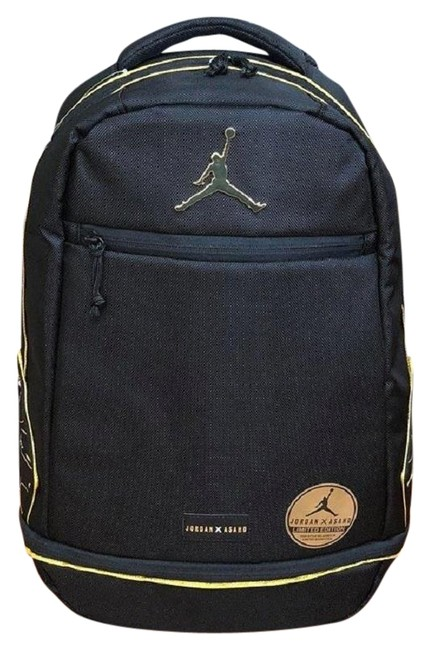 Item - Asahd X Jumpman Black/Gold Limited Edition- Black/Gold Polyester Backpack