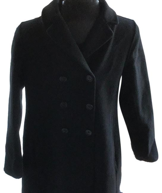 Item - Black Double Breasted Coat Size 6 (S)